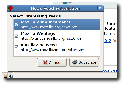 mozilla.org feeds