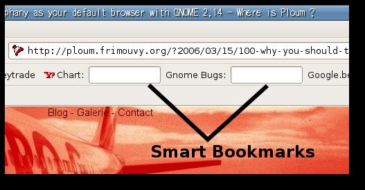 Epiphany smart bookmarks